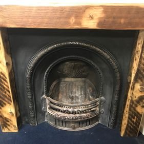 fireplace reclaimed fire surround